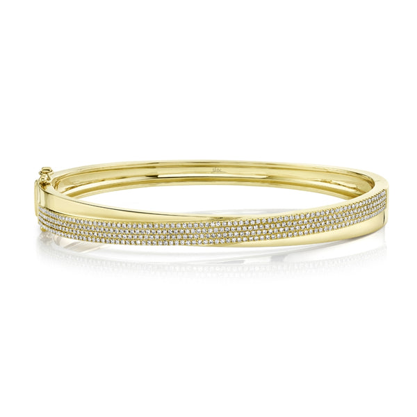 14K GOLD DIAMOND JOANNE BANGLE
