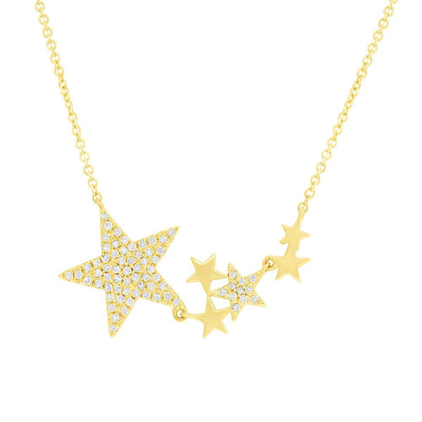14K GOLD DIAMOND KYLIE NECKLACE (ALL COLORS)