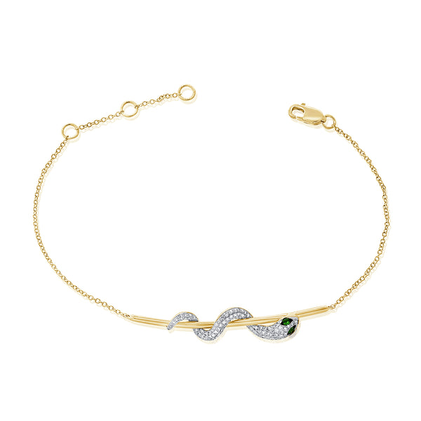 14K YELLOW GOLD ROXY BRACELET