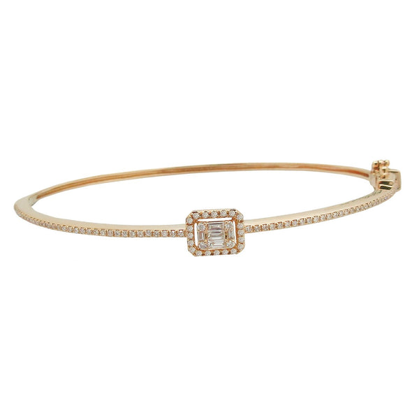 14K GOLD DIAMOND ERIN BANGLE (ALL COLORS)