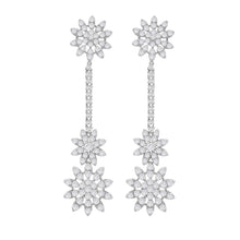 18K WHITE GOLD DIAMOND SARA EARRINGS