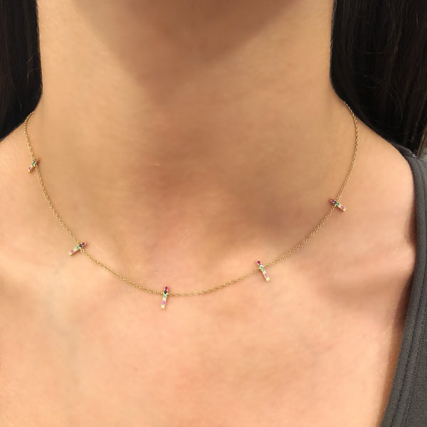 14K GOLD DIAMOND AYA NECKLACE