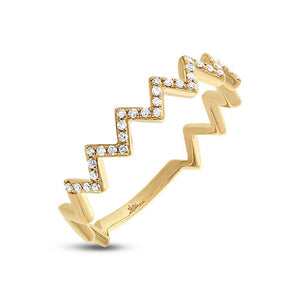 Diamond Zigzag Gina Ring in 14k Gold (All Colors)
