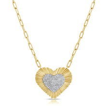 14K GOLD DIAMOND SARIKA HEART NECKLACE