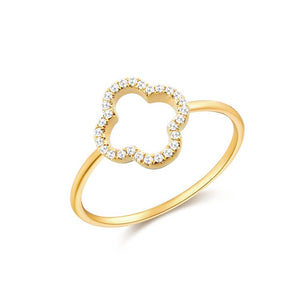 14K GOLD DIAMOND CLAIRE RING