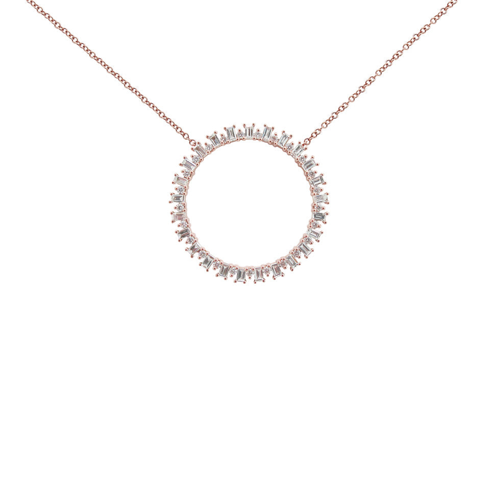14K GOLD DIAMOND KELLY NECKLACE