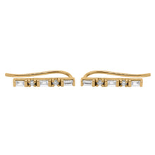 14K GOLD DIAMOND BAGUETTE SARI CRAWLERS