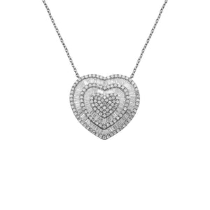 14K GOLD DIAMOND CANDACE HEART NECKLACE