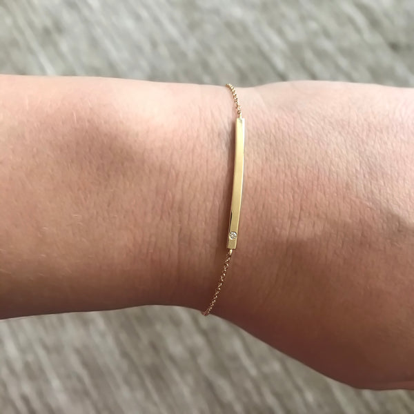 14K GOLD DIAMOND KARINA BRACELET