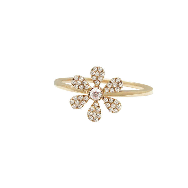 Diamond Dana Flower Ring in 14k Gold