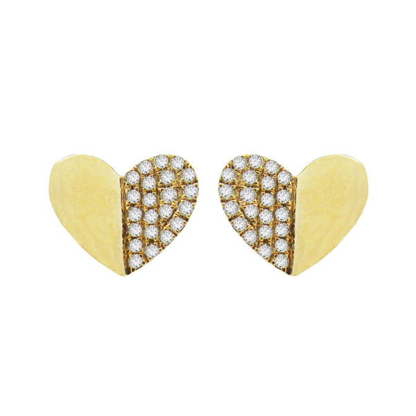 14K GOLD DIAMOND DAPHNE STUDS
