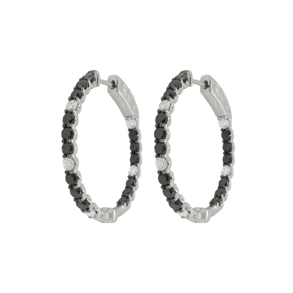 18K GOLD DIAMOND RYAN HOOPS