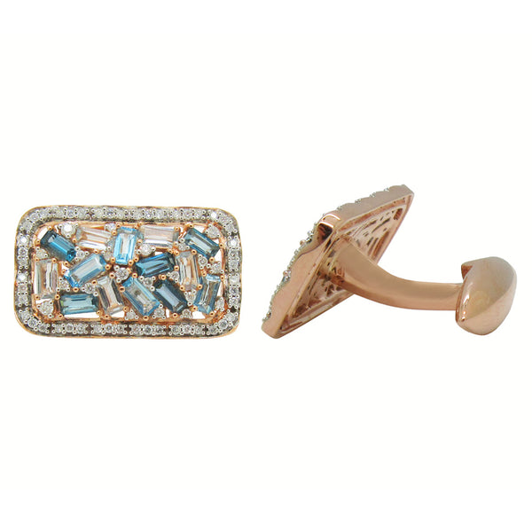 14K GOLD DIAMOND JONAH CUFFLINKS