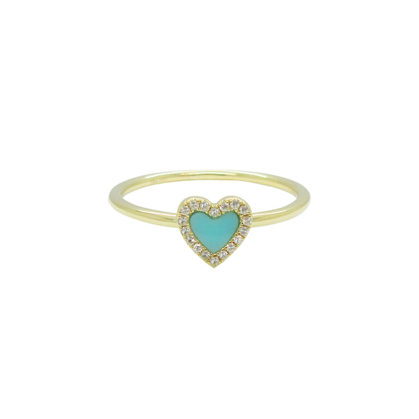 14 GOLD DIAMOND TURQUOISE HAILEY RING