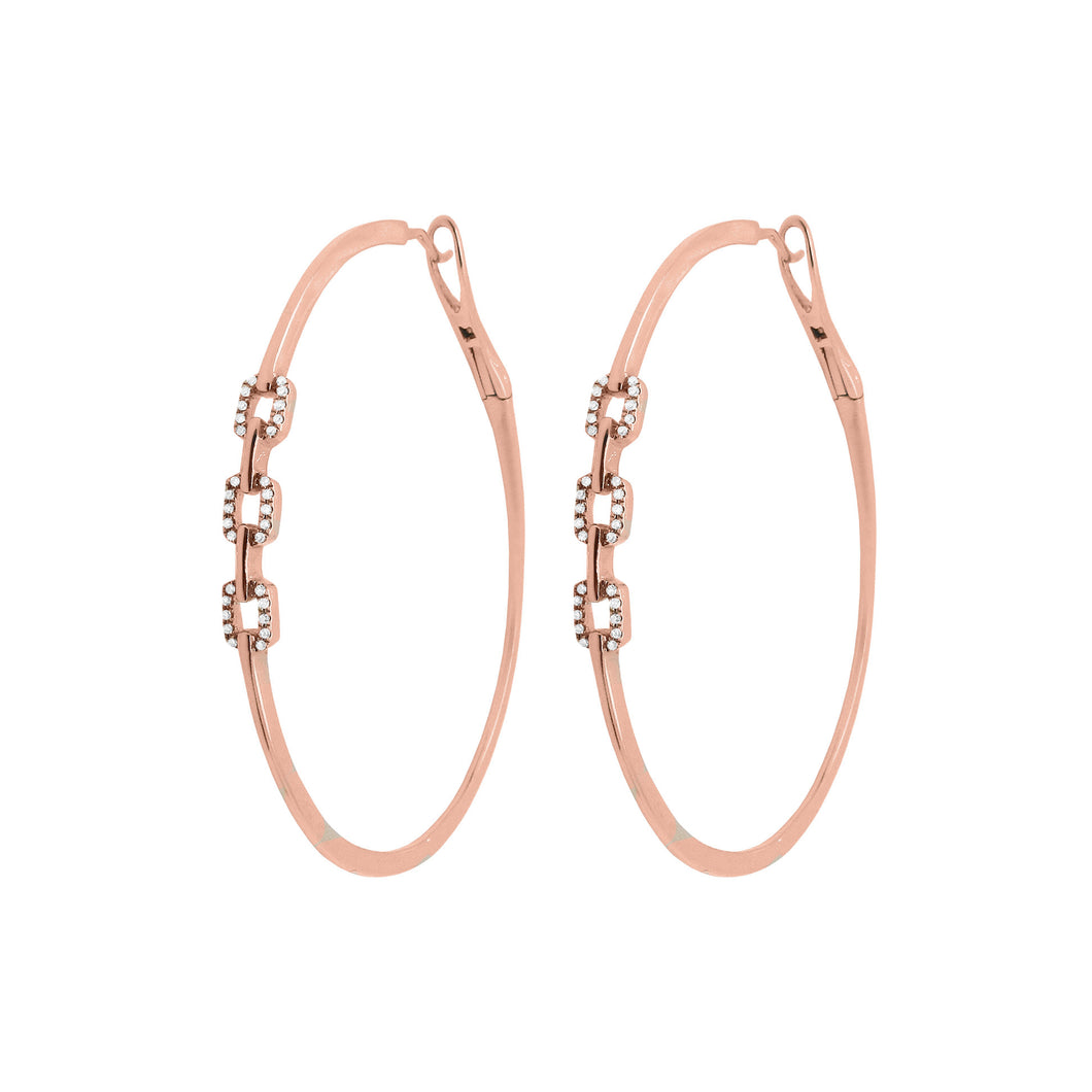 14K GOLD DIAMOND BRENDA HOOPS