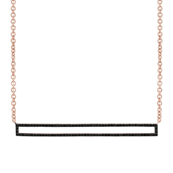 14K ROSE GOLD BLACK DIAMOND ABBEY NECKLACE