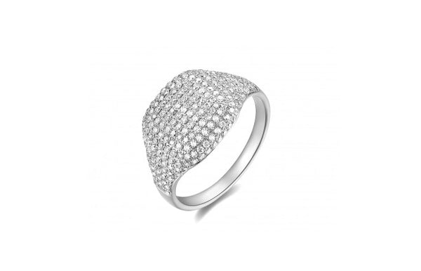 Pave Diamond Pinky Ring in 14k Gold