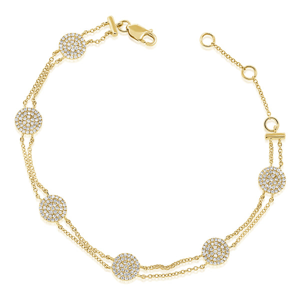 14K GOLD DIAMOND JENNY CIRCLE BRACELET
