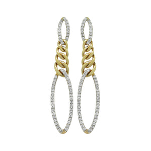 14K GOLD DIAMOND AMARA CHAIN EARRINGS