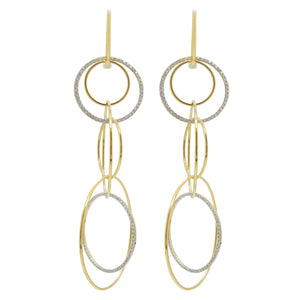 14K GOLD DIAMOND ORLY EARRINGS