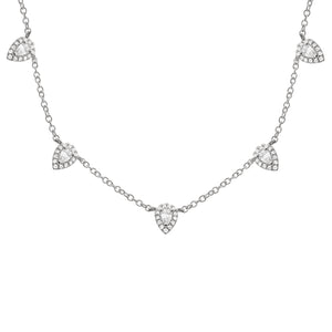 14K GOLD DIAMOND COVE NECKLACE