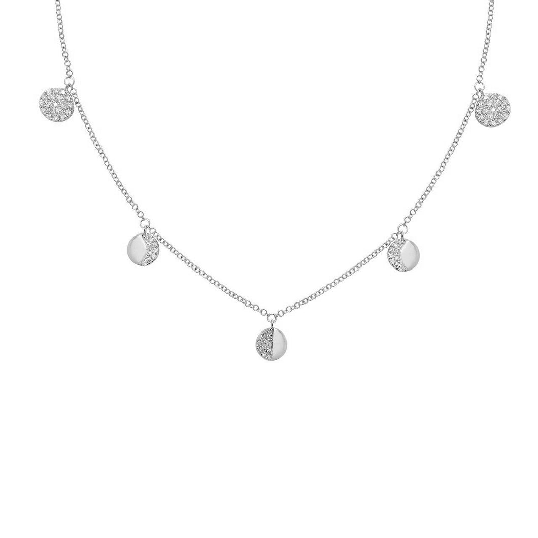 14K GOLD DIAMOND CELIA NECKLACE (ALL COLORS)