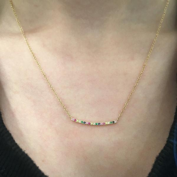 14K GOLD RAINBOW JOY NECKLACE