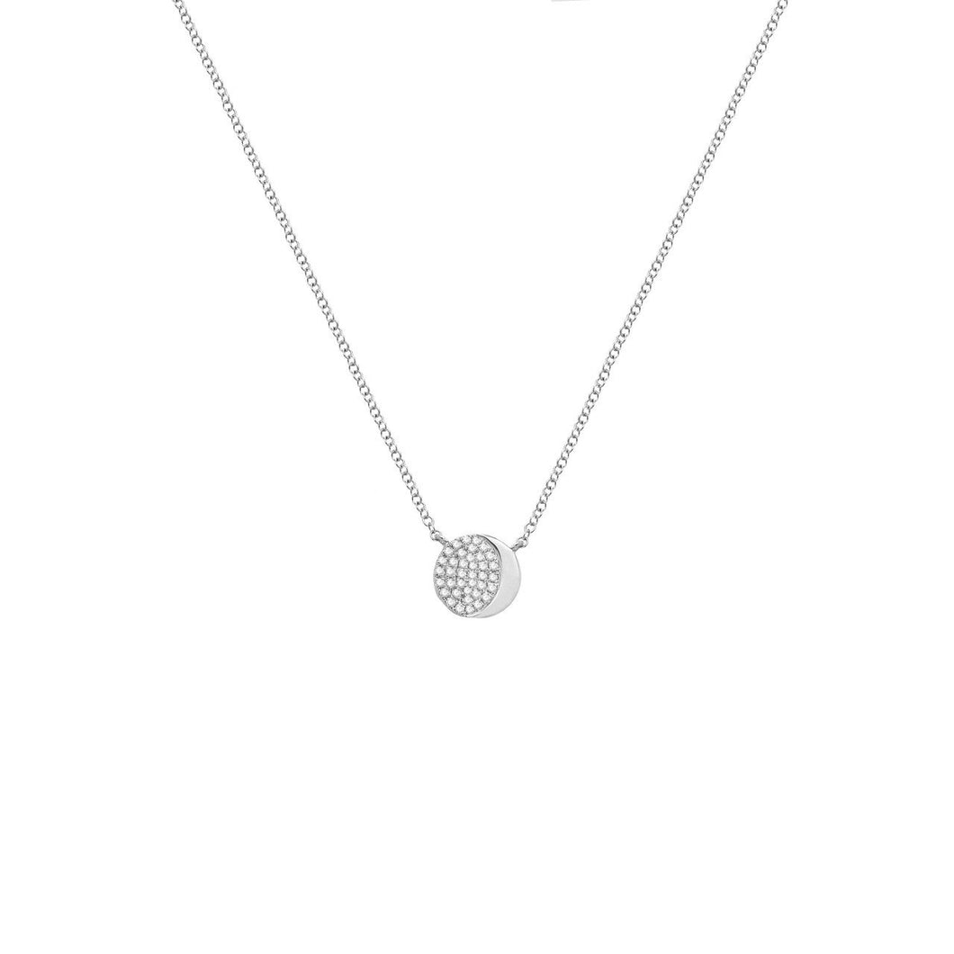 Diamond Zara Necklace in 14k Gold (All Colors)
