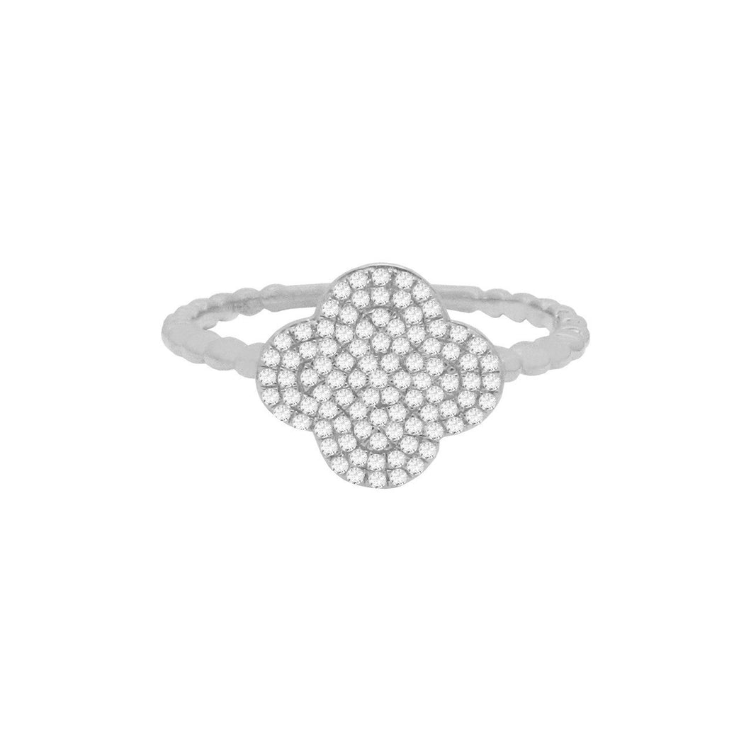 14K GOLD DIAMOND SELMA CLOVER RING