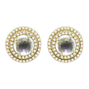 14K GOLD DIAMOND PENELOPE STUDS