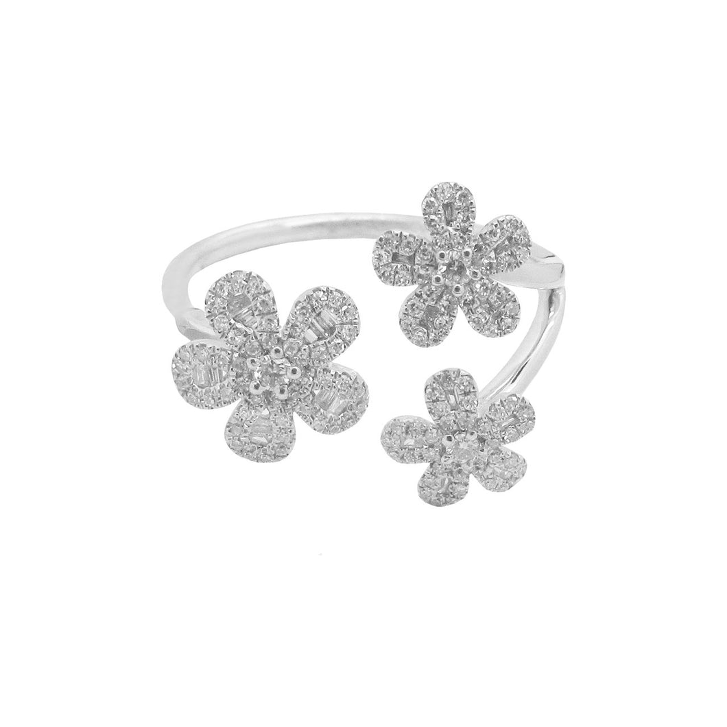 14K GOLD DIAMOND RIKKI FLOWER RING (ALL COLORS)