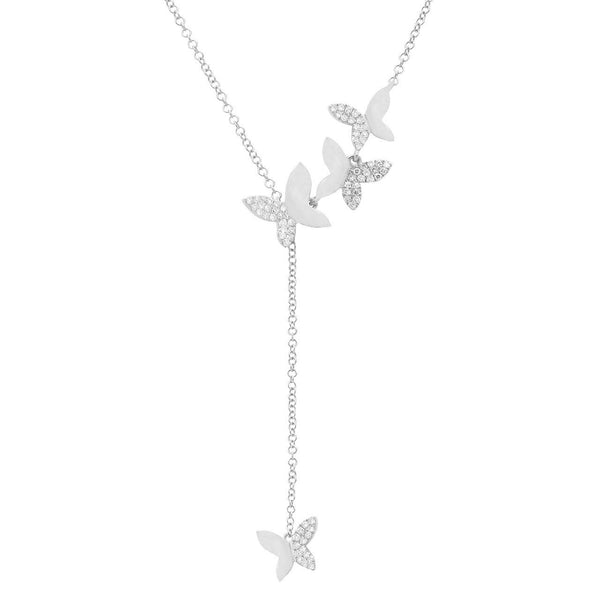 14K GOLD DIAMOND BUTTERFLY LARIAT (ALL COLORS)