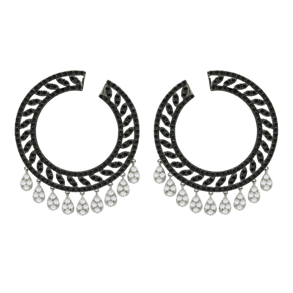 18K WHITE GOLD DIAMOND TIANNA EARRINGS