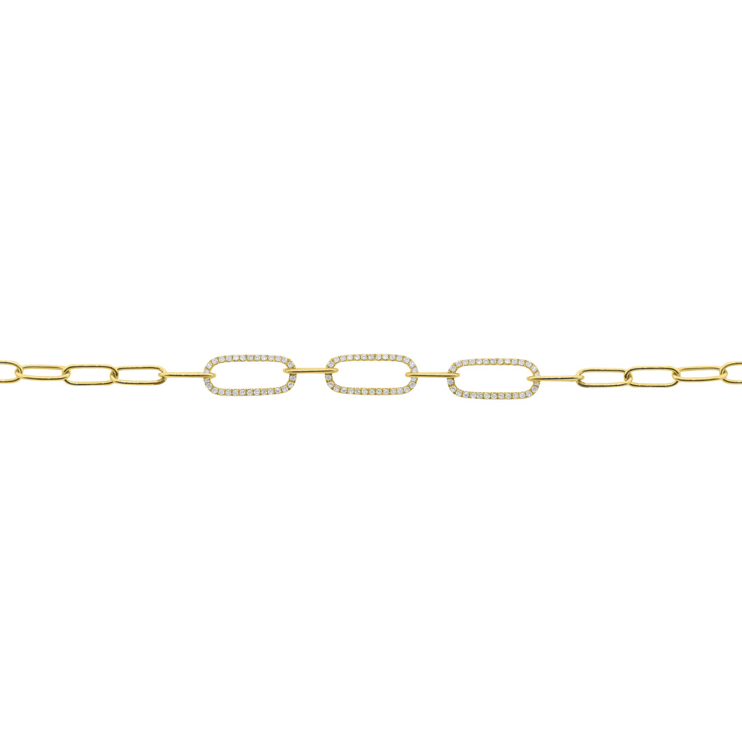 14K GOLD DIAMOND SAMANTHA BRACELET