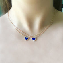 14K GOLD DIAMOND LAPIS SMALL HAILEY NECKLACE
