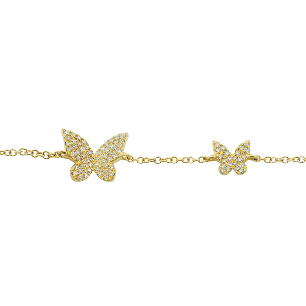 14K GOLD DIAMOND BECCA BUTTERFLY BRACELET