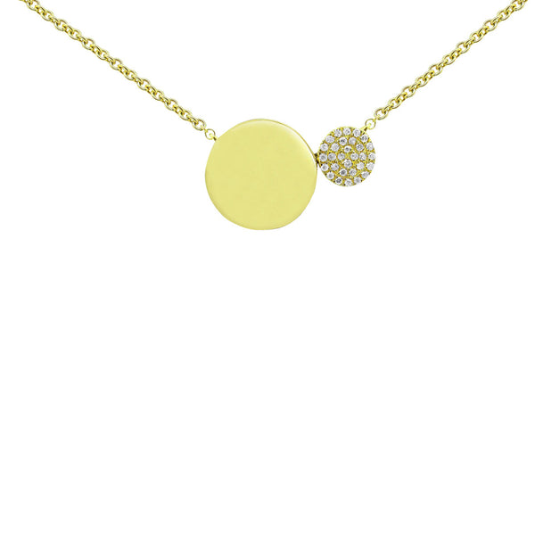 14K GOLD DIAMOND NELLY CIRCLE NECKLACE