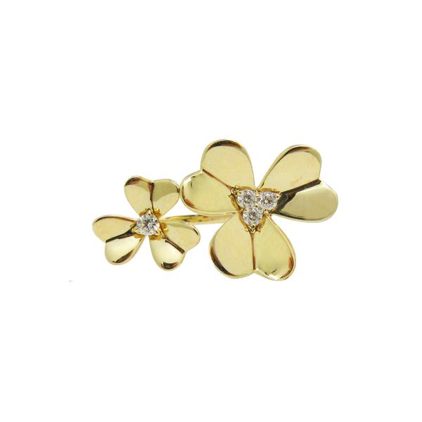 14K GOLD DIAMOND JAMIE FLOWER RING