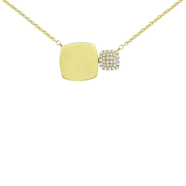14K GOLD DIAMOND NELLY SQUARE NECKLACE