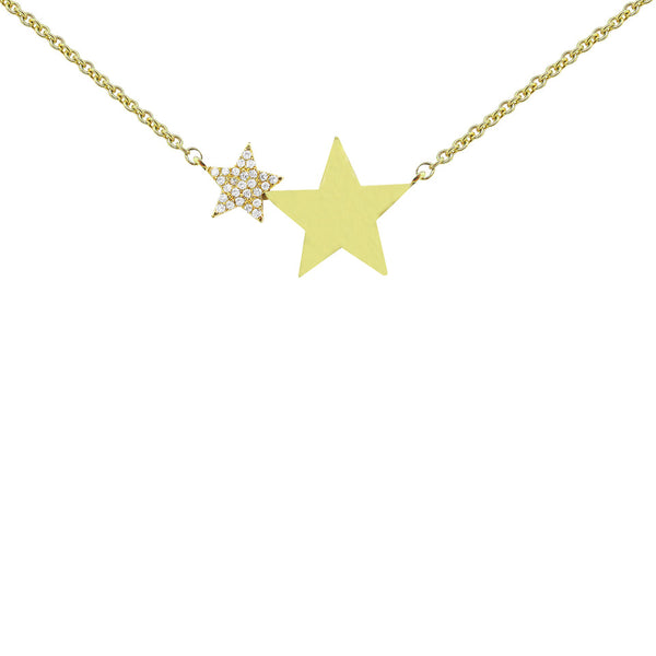 14K GOLD DIAMOND NELLY STAR NECKLACE