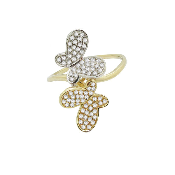 14K GOLD DIAMOND SHAY BUTTERFLY RING