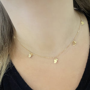 14K GOLD BIANCA HEART NECKLACE