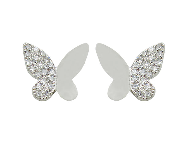 14K GOLD DIAMOND ROSALIE EARRINGS