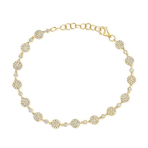 14K GOLD DIAMOND RORY CIRCLE BRACELET