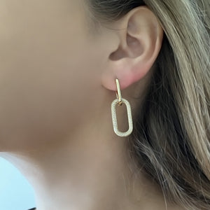 14K GOLD DIAMOND TINA EARRINGS