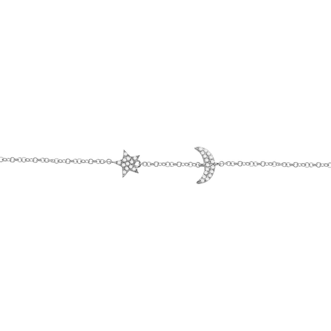 14K GOLD DIAMOND LUNA BRACELET