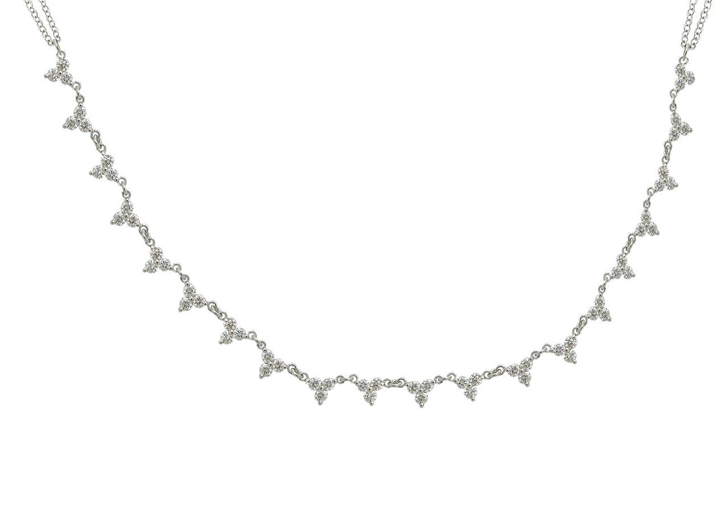 14K WHITE GOLD DIAMOND LIZZY NECKLACE