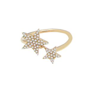 14K GOLD DIAMOND EDEN STAR RING