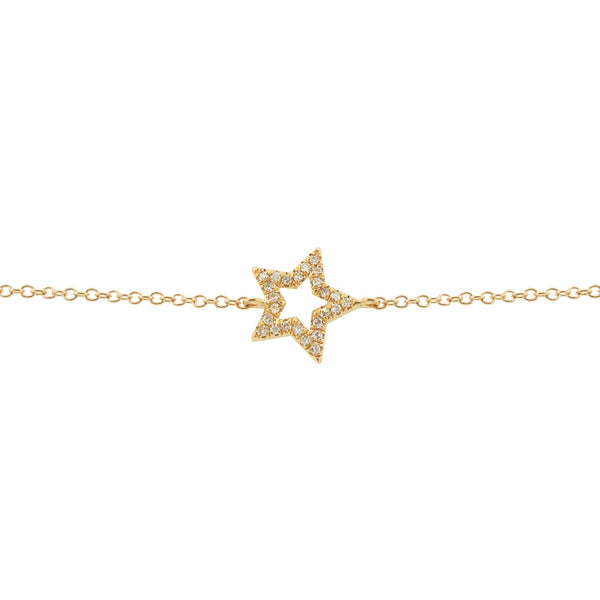 14K GOLD DIAMOND RIKKI STAR BRACELET