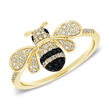14K GOLD DIAMOND FANNIE BEE RING
